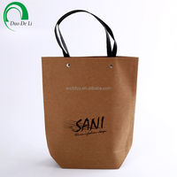 Custom printed cheap brown paper bags with handles
