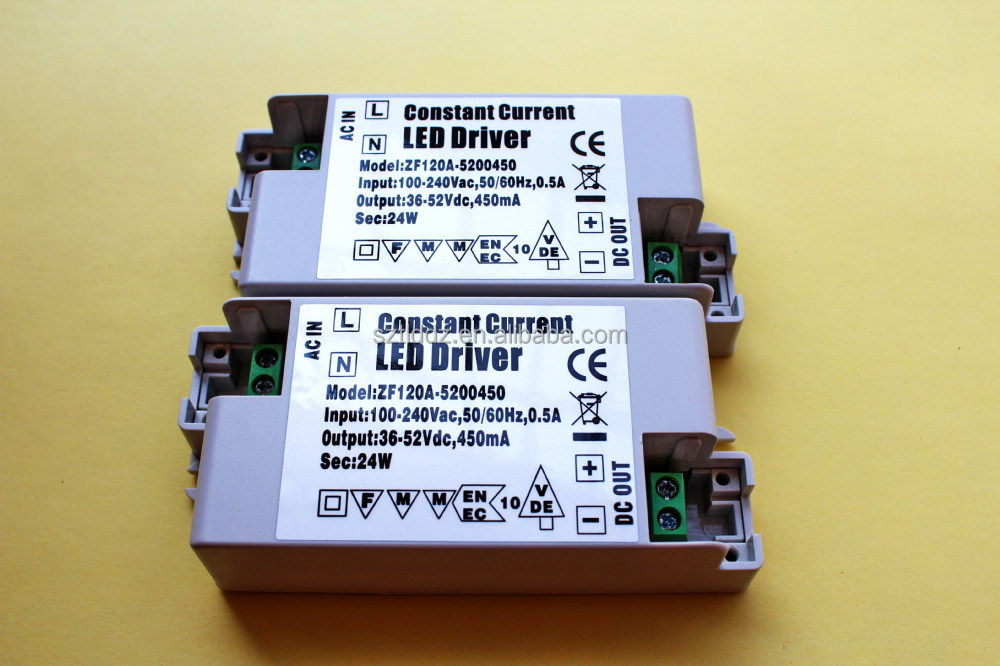 White Plastic Casing 12-24w Constant Current Led Driver 450ma With ...