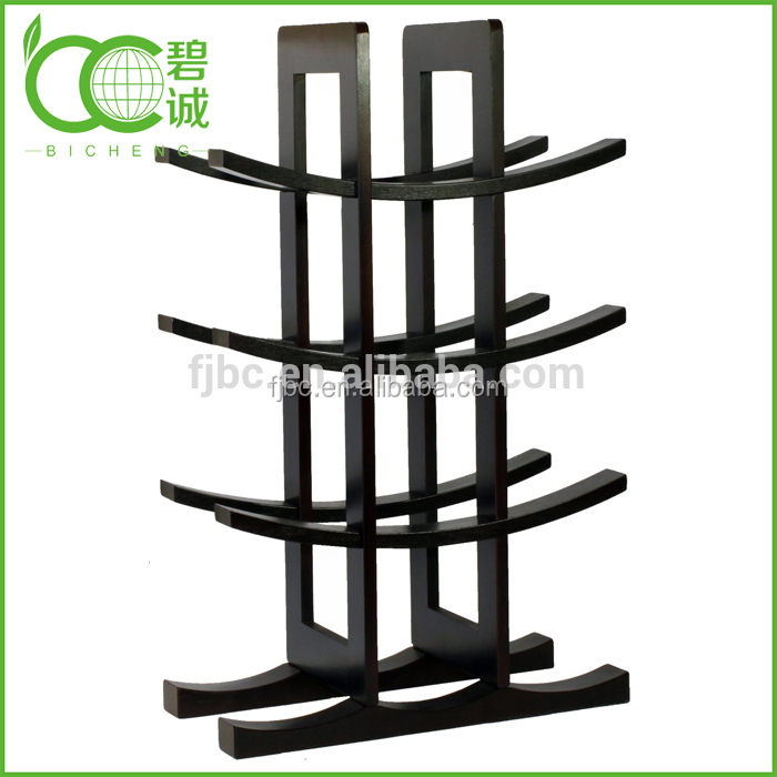 Wholesale bamboo wine rack wine bottle holder 12 bottles