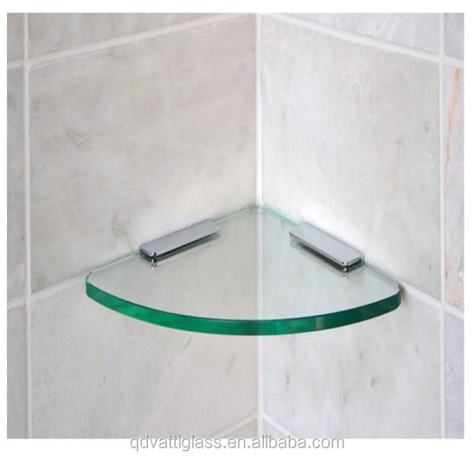 New Arrival Home Bathroom Wall Mounted Corner Decorative Shower Small Glass Shelf Buy Glass Bathroom Corner Shelf Heat Reflective Glass Toughened