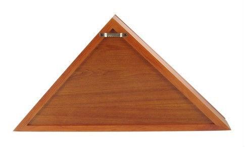 haute qualit triangle en bois bo te de drapeau am ricain. Black Bedroom Furniture Sets. Home Design Ideas