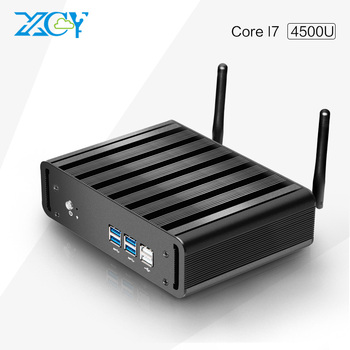 Factory Price X31-i7 4500u 1.6G HZ Desktop Mini Slim PC Fanless mini computer Support win7, win8.1, linux, ubuntu 8G RAM 1TB HDD