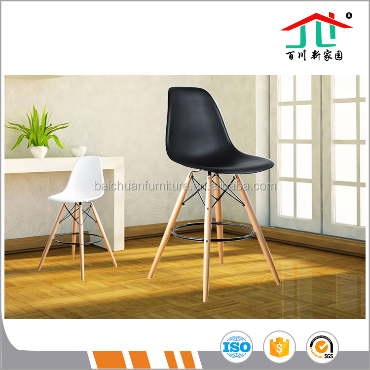 Abs Plastic /wood leg Bar Stools Modern Dinning Counter Chair