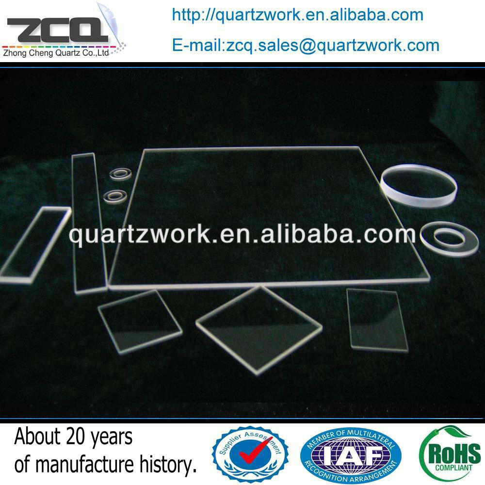 High Quality Quartz Perforated Sheet Clear Fused Silica Plate Price