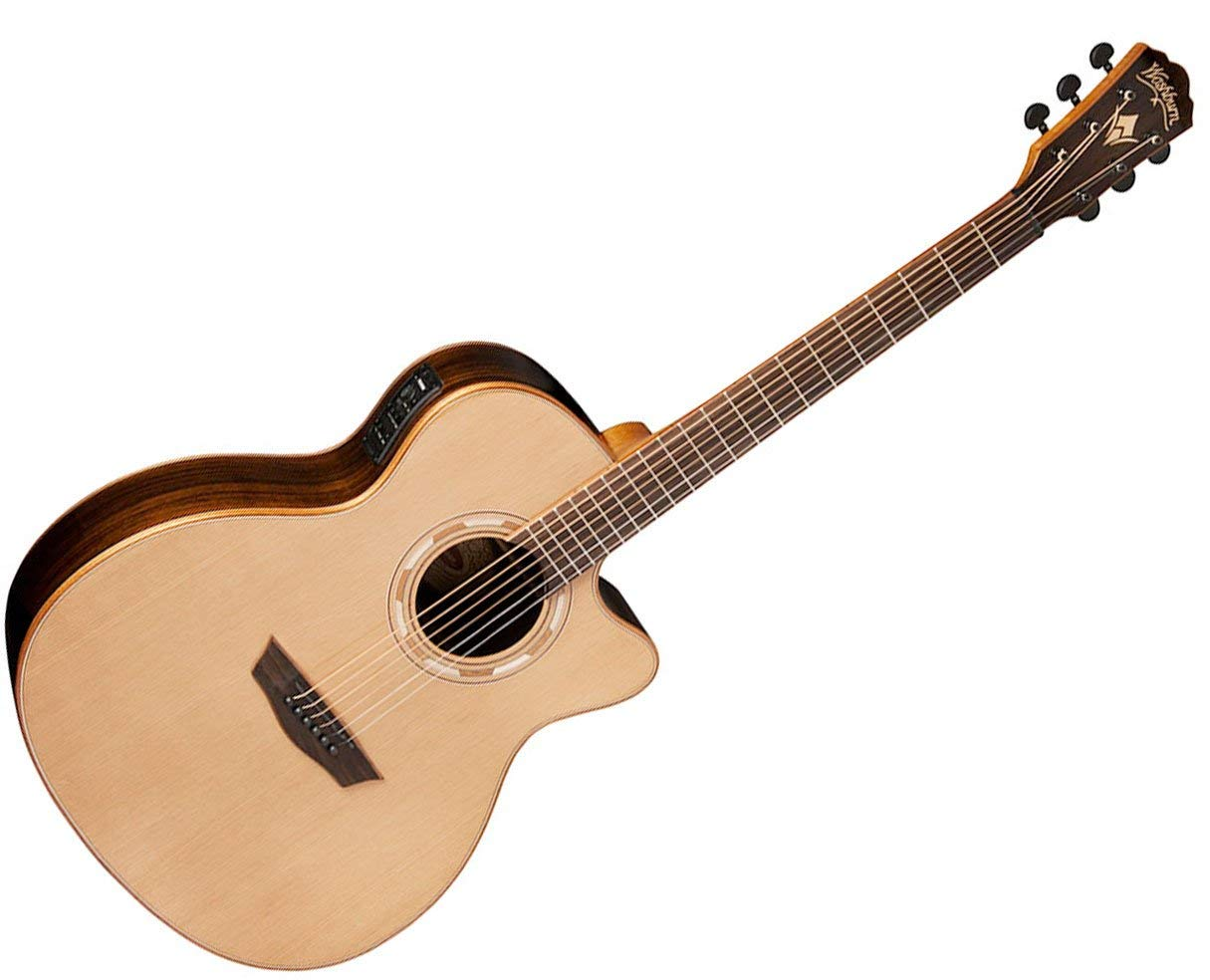 Washburn WLG26SCE Grand Auditorium Acoustic Guitar - Natural