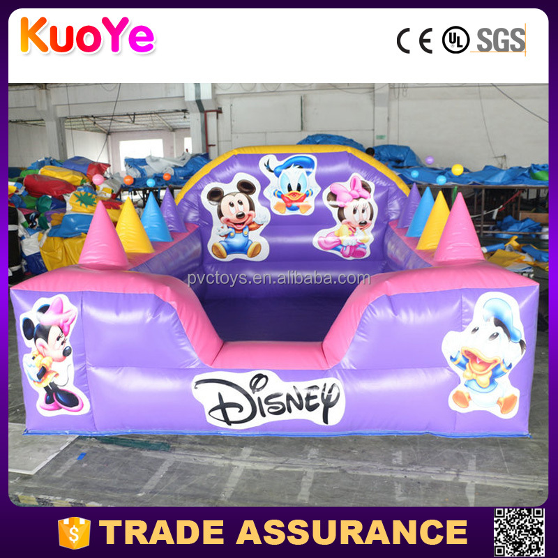 inflatable Mickey jumping castle with balls