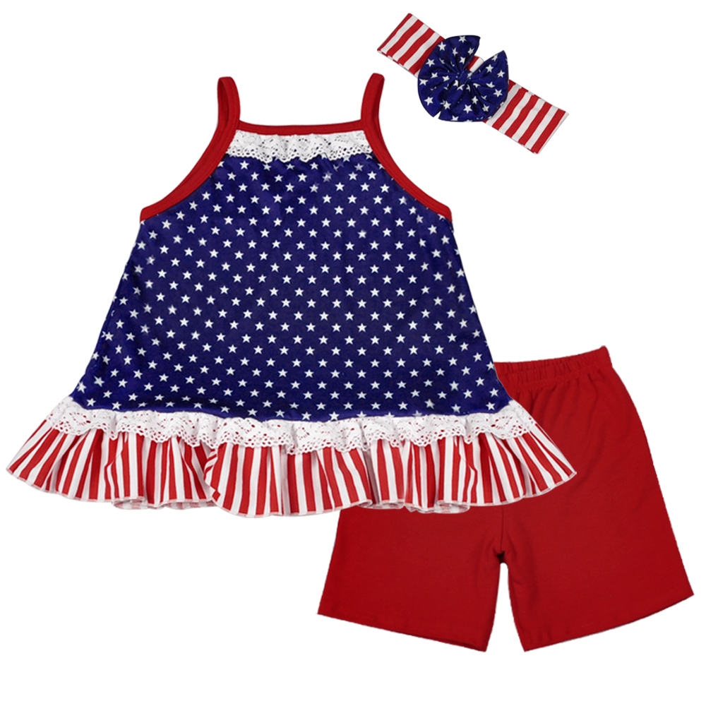 American style 4th of july boutique girls outfit