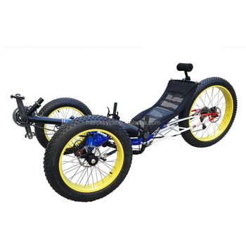 Trikexplor Aluminum Frame Adult Sports Fat Tire Recumbent Trike ...