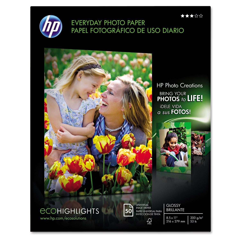 "HP Everyday Glossy Photo Paper, 8 1/2"" x 11"", 50 ct."