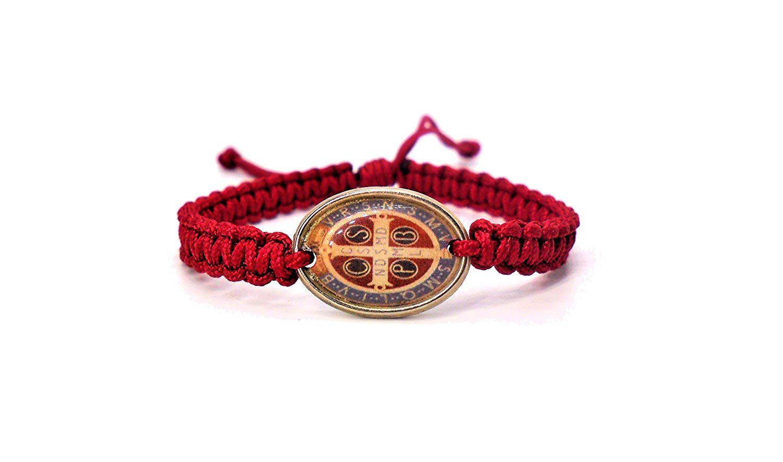 Benedict Gifts Catholic St. Benedict Blessing Bracelet Red, handmade bracelet, cord bracelet, gift, saint bracelet, fashion, catholic gifts