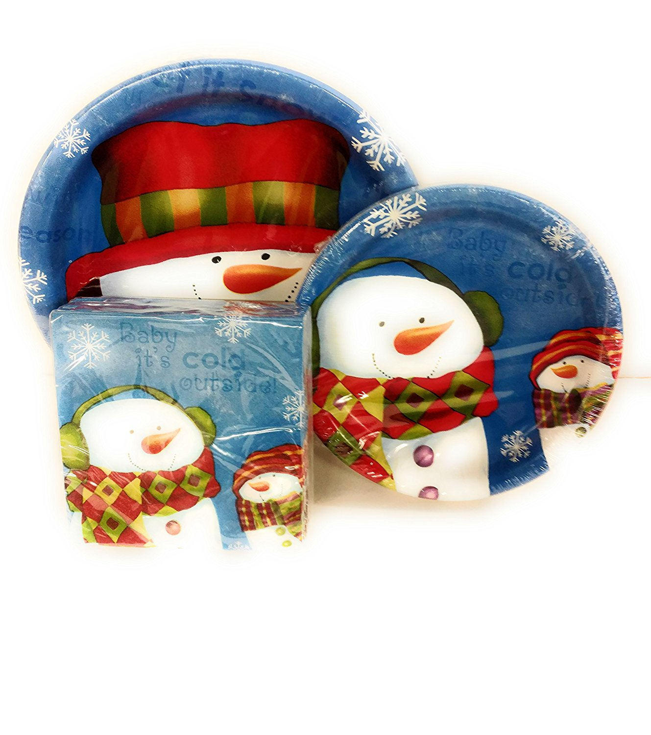 ... Frosty the Snowman Baby it\u0027s Cold Outside Disposable Dinnerware Bundle of 18 Dinner Plates 18 Lunch  sc 1 st  Alibaba & Cheap Snowman Dinner Plates find Snowman Dinner Plates deals on ...