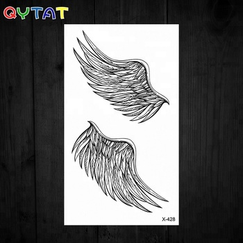 Non-toxic Tribal Black Temporary Angel Wings Tattoo Sticker - Buy Wings  Tattoo,Wings Tattoo Sticker,Wings Temporary Tattoo Product on Alibaba.com