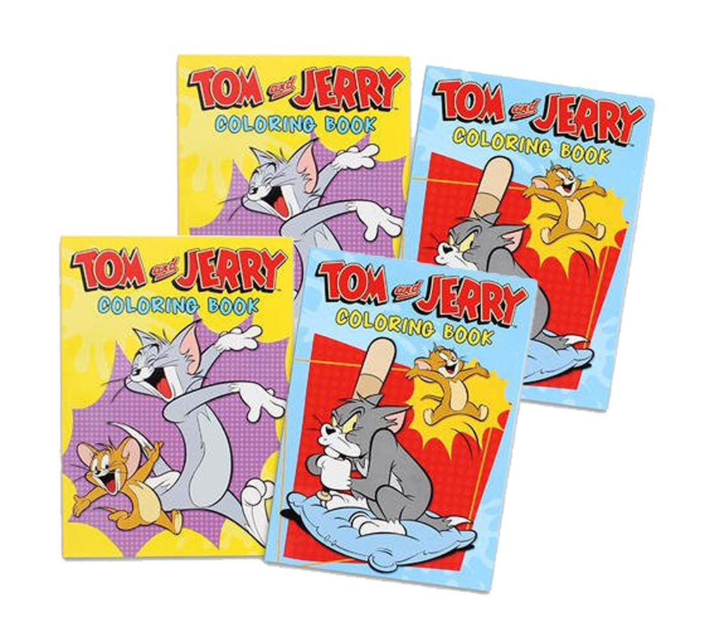 Set of 4 Tom and Jerry Coloring Books (4 books 96 pages each)