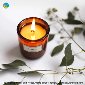 Amber candle holder with gift box yufengcraft www.yufengcraft.cn