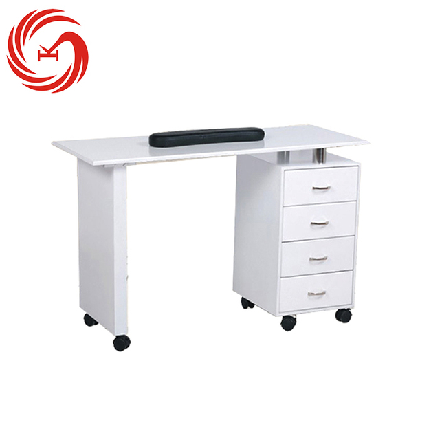 Luxury Modern Double Wood White Manicure Nail Salon Nail Table