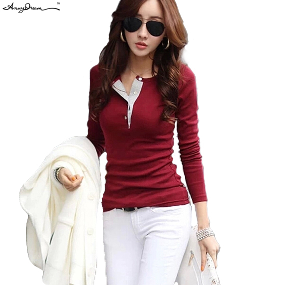 73a9b05950d 5 Colors Brand New Cotton Slim Fit O-Neck Solid Casual Polo Shirt Women  Fashion