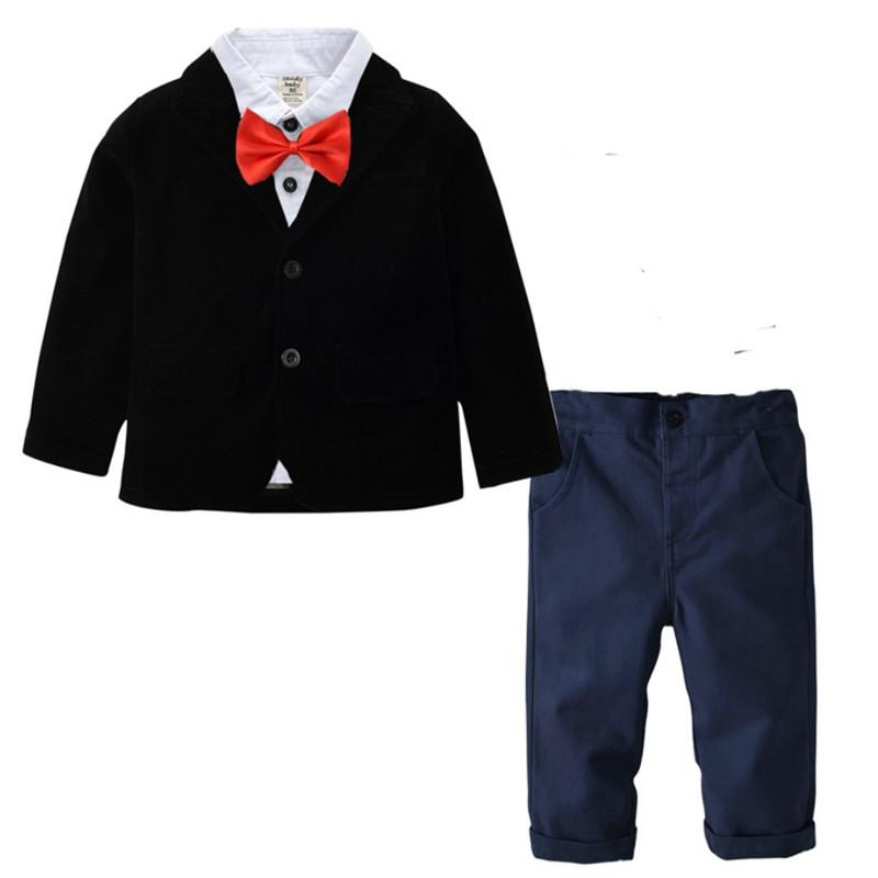 869dd14677f5f 2019 mode enfants bébé garçons mariage tuxudo costume vêtements petit  monsieur 4 pc tenue (chemise