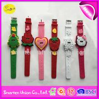 watch promotional gift, felt material kids wrist watch