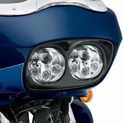 HL Road Glide 2003-2013 90W Dual Led Headlight Assembly Black Glide Beam