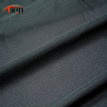 all black recycle scale shaped jersey fabric