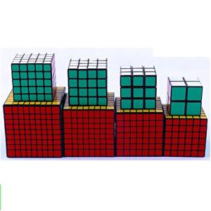 Pack of 8 ,Cube Puzzle Bundle Pack,2x2x2,3x3x3,4x4x4,5x5x5,6x6x6,7x7x7,8x8x8,9x9x9 ,Shengshou Black Speed Cubes Collection
