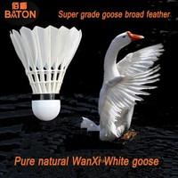 walmart sporting goods super grade nature white goose feather badminton aeroplane shuttlecock eg1130