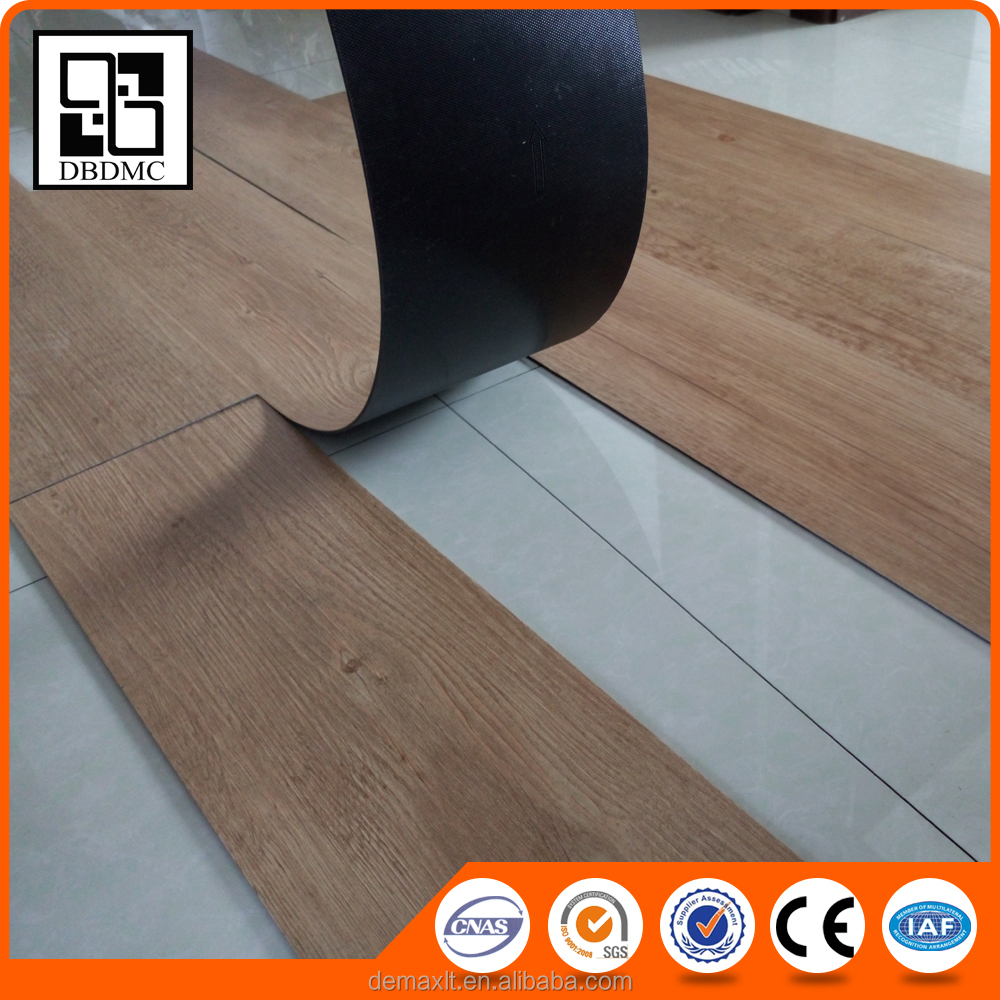 Indoor Home Office Glue Down PVC Vinyl Floor Wood Vinyl Sheet Flooring