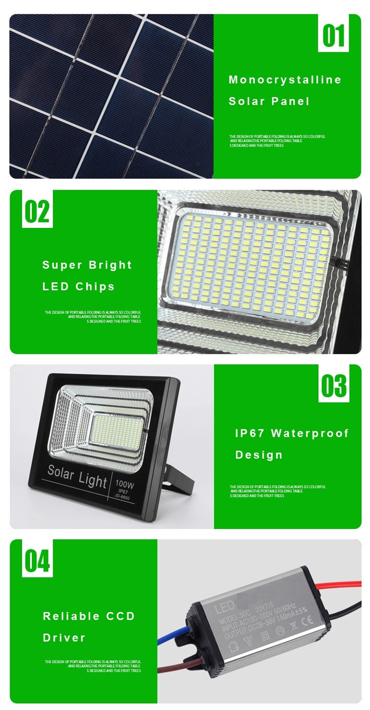 With Timer Security Solar Floodlight Price IP65 Outdoor 25W 40W 60W 200W 100W LED Solar Flood Light