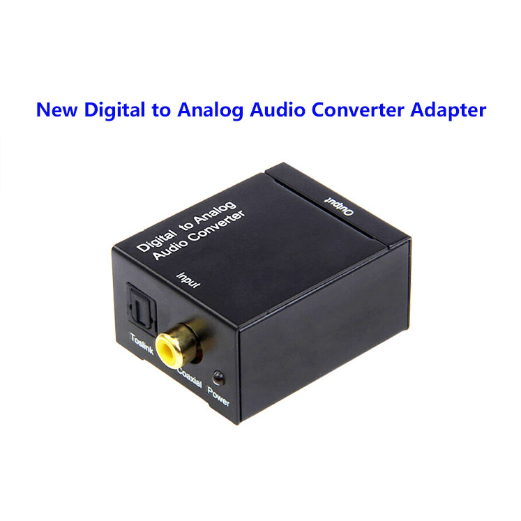 New TV Optical Digital SPDIF/Coaxial to RCA L/R Headphone Analog Audio Converter Out Digital to Analog Audio Converter,Mini DAC