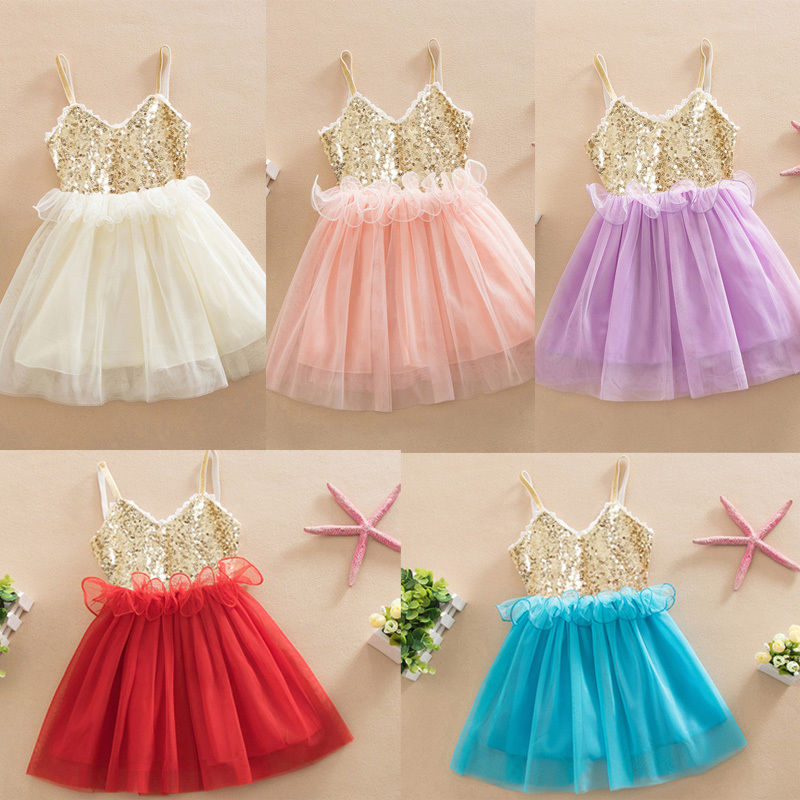 font b Dresses b font Sequins Princess font b Children b font Baby Girl Clothing