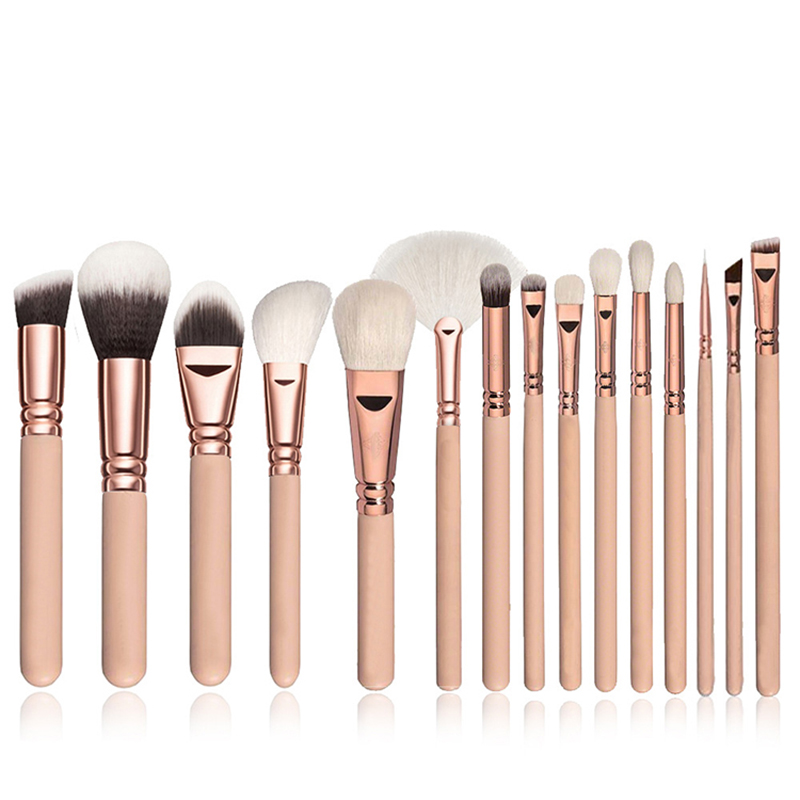 2019 High Quality Professional Black Wooden Handle Pink <strong>Makeup</strong> Brush Set Cosmetic <strong>Sample</strong>
