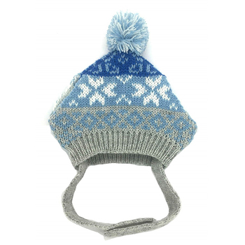 Clic Warm Winter Hat For Dog Beanie Knit Hats Accessory Kitty Cats Dogs Blue Grey