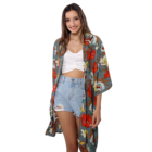OEM swimwear beach casual women dress cover up kimono cardigan womens long kimono