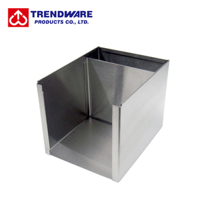 Stainless Steel Rectangle Bar Caddy - Napkin Straw Stirrer Holder