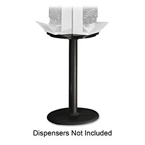 """Wholesale CASE of 5 - Dixie Foods SmartStock Cutlery Carousel Base-Display Stand Base, 18""""Wx28-1/2""""H, Black"""