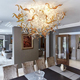 Custom contemporary Murano glass chandelier for hall