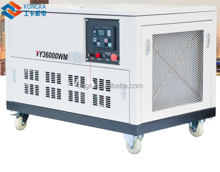 20kw 25kva four cylinder water cooled low noise petrol generator set