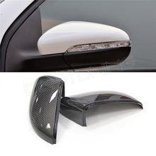 Black color full replacement carbon fiber rear view mirror cover for 2010-2012 VW Golf Mk6/ Golf6 GTI