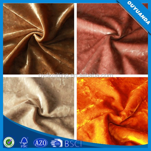 Fabric Korea Velvet Crushed Velvet in Polyester Fabric Crushed Velvet Curtain Fabric