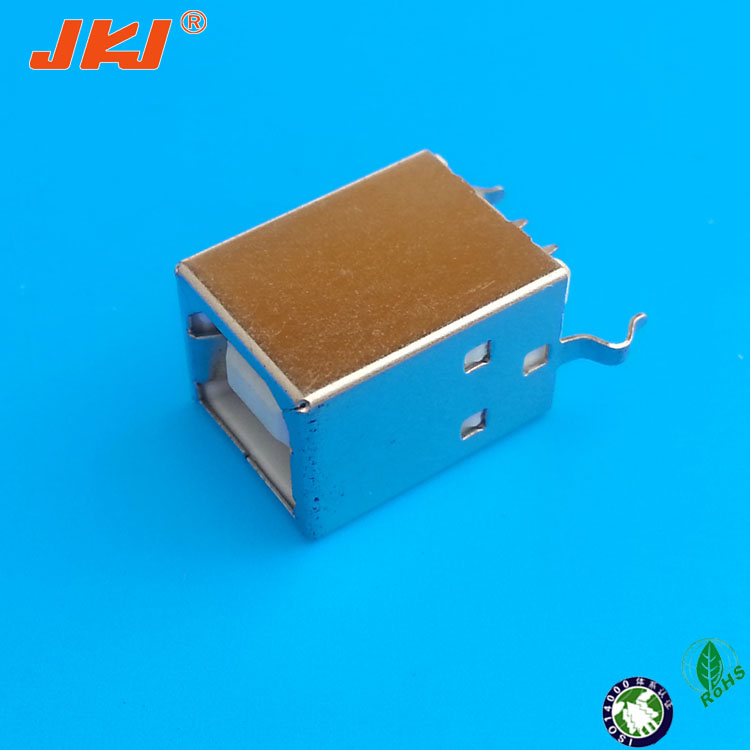 type B female vertical micro usb b type male solder type connector