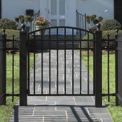 Decorative House Driveway Wrought Iron Garden Fence Designs For Steel Panels Black
