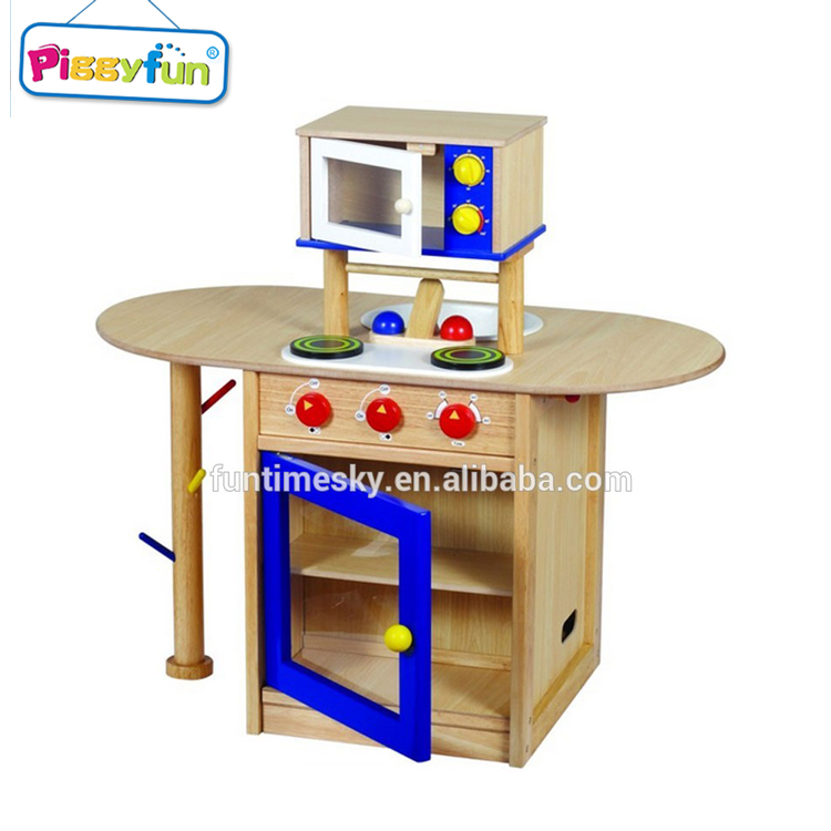 New Design High Quality Wooden Kids Kitchen Set Toy AT11868