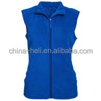 Unisex zipper up fleece vest