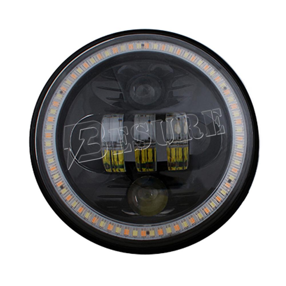 Black Projector Daymaker Led Light Bulb Car Head Light 5.75'' Hi ...