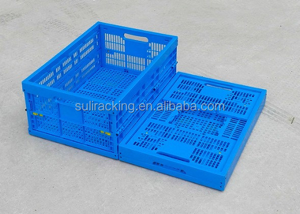 Plastic Mesh Folding Storage Bin Plastic Container For Fruit