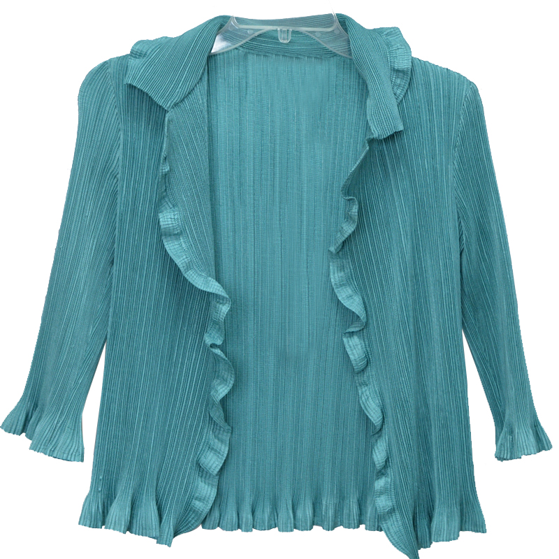 Plus size fashionable ladies's pleated women tops
