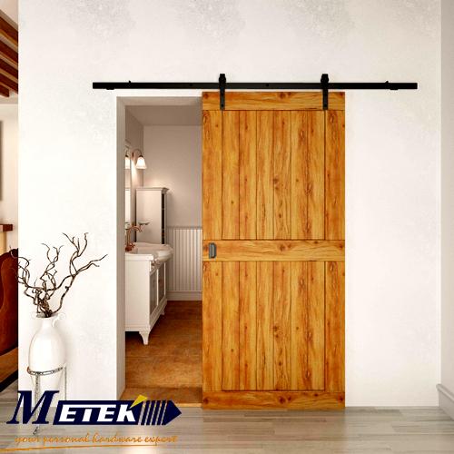 4 9ft 6ft 6 6ft carbon steel interior sliding barn wood entry door hardware in doors from home. Black Bedroom Furniture Sets. Home Design Ideas