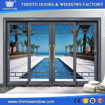 Manufacturer Used Commercial Aluminum Glass Sliding Door View