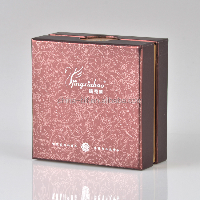 Luxury custom logo hot stamping top and base gift boxes for packaging