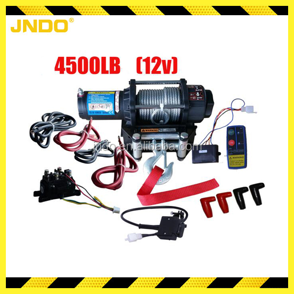 Portable ATV/UTV mini 12v electric winch 2 ton